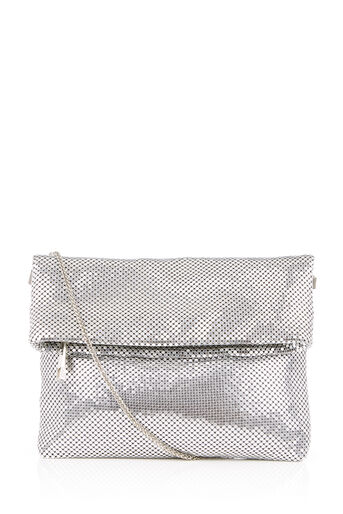 Oasis, CHAIN MAIL CLUTCH Silver 0