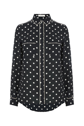 Oasis, SPOTTED SHIRT Black 0