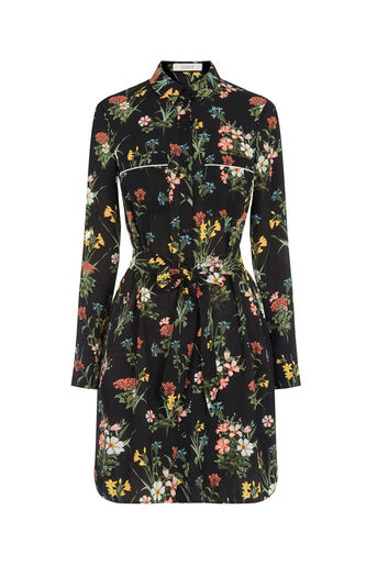 Oasis, WINTER LILLY SHIRT DRESS Multi Black 0