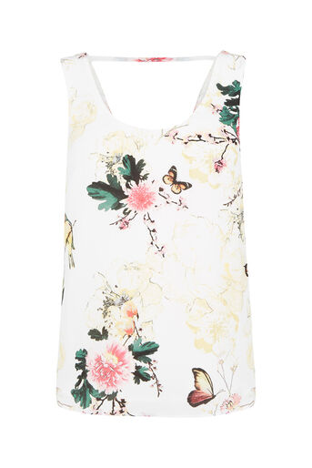 Oasis, Botany And Butterfly Vest Multi Natural 0