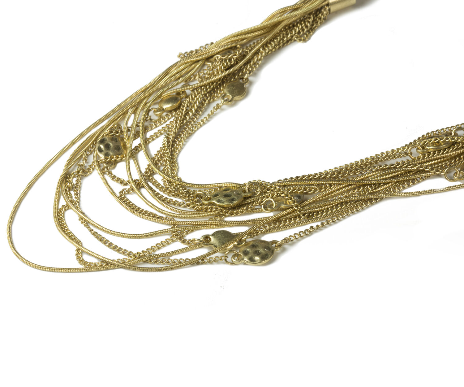 Oasis, MULTI CHAIN NECKLACE Gold 1