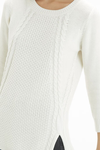 Oasis, The Cable Knit Off White 4