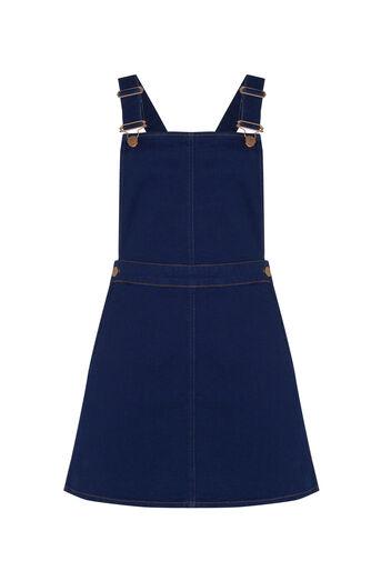 Oasis, Denise Dungaree Dress Denim 0