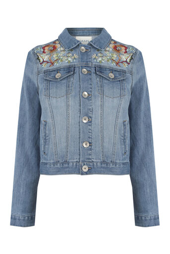 Oasis, The Falls Denim Jacket Denim 0