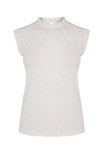 Oasis, PRETTY PINTUCK TOP Off White 0