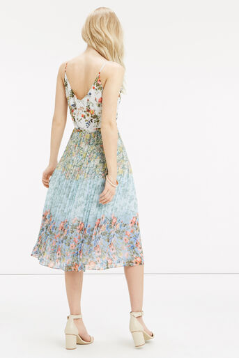 Oasis, Ombre Ditsy Pleat Midi Dress Multi 3
