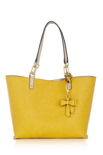Oasis, REVERSIBLE BOW SHOPPER Mid Yellow 0