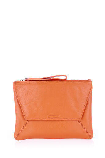 Oasis, LEATHER CLUTCH Coral 0