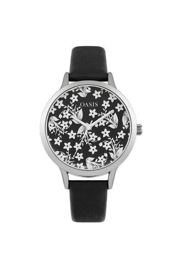 Oasis, Mirror Dial Watch Black 0