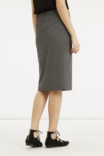 Oasis, Geo Wrap Pencil Skirt Black and White 3