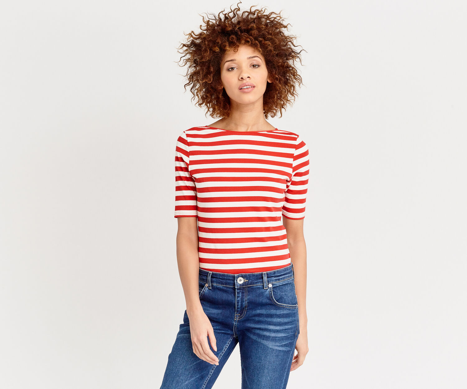 Oasis, COTTON STRIPE TEE Multi 1