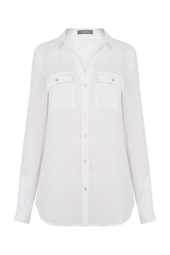 Oasis, WEEKEND SHIRT Off White 0