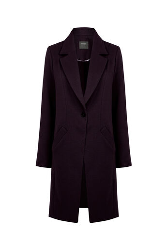 Oasis, KIMBERLY CAR COAT Burgundy 0