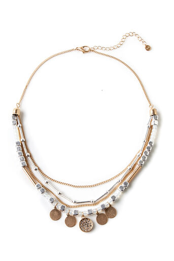 Oasis, LAYERED PLATED NECKLACE Multi 0