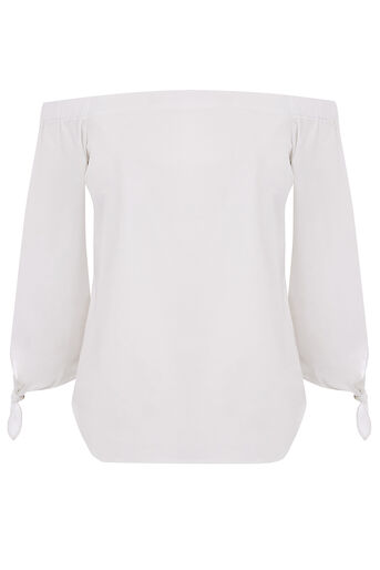 Oasis, LONG SLEEVE BARDOT White 0