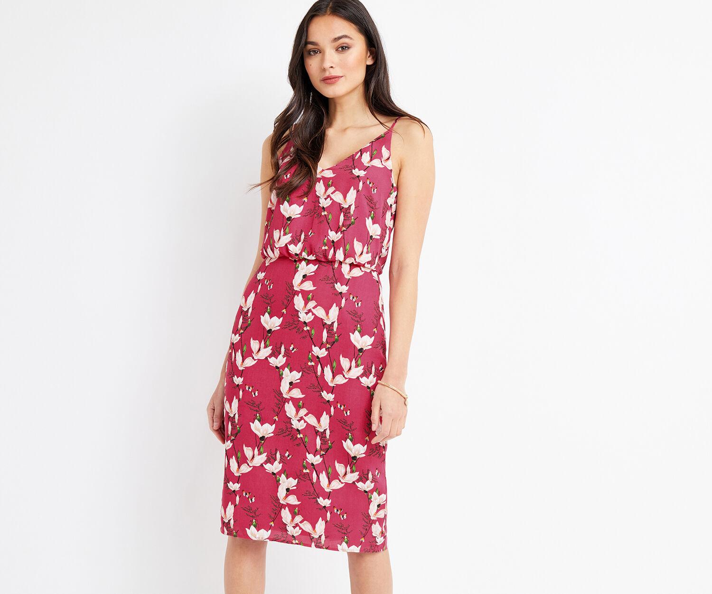 Oasis, SHORT MAGNOLIA CAMI DRESS Multi Pink 1