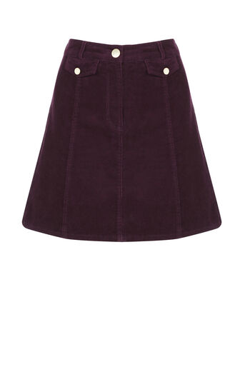 Oasis, Cord pocket mini skirt Burgundy 0