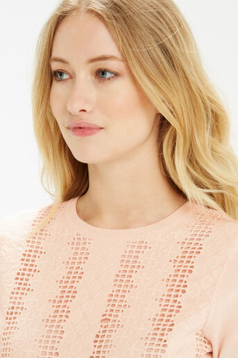 Oasis, Lace Front Knit Pale Pink 4
