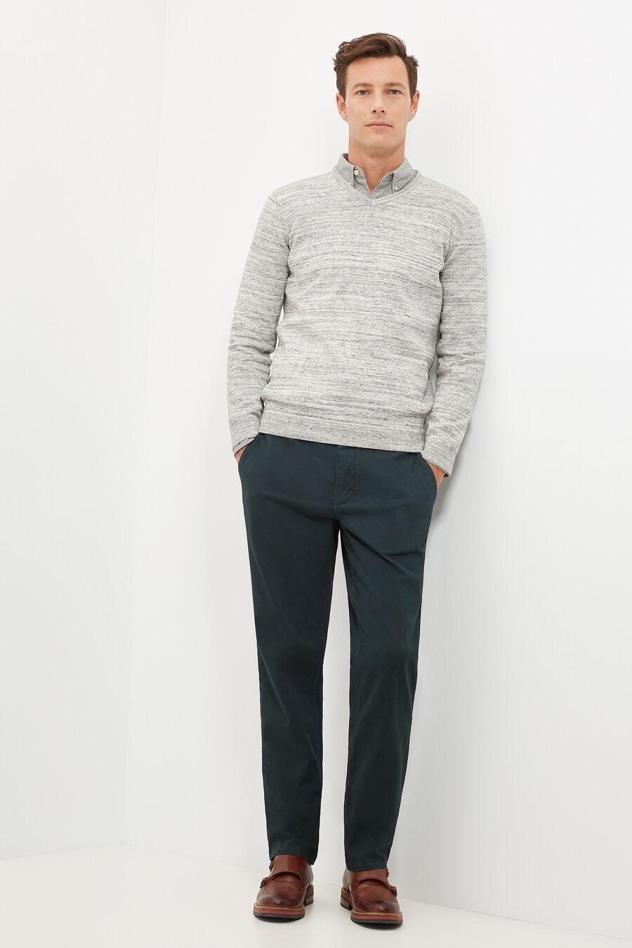 Patterned v-neck jumper