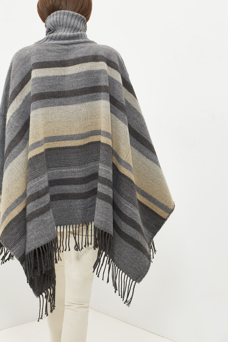 Poncho-style scarf