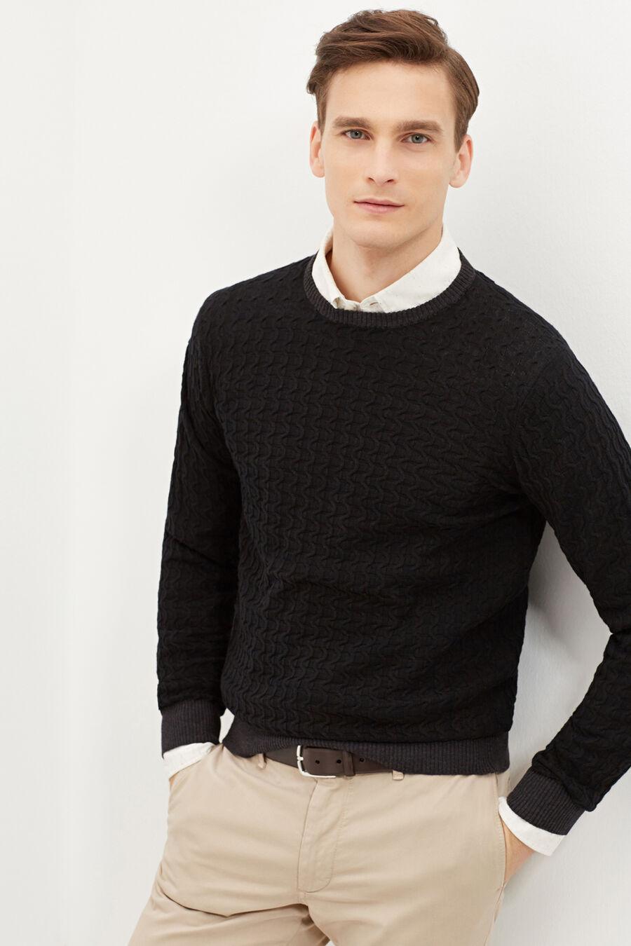 Braids cotton sweater