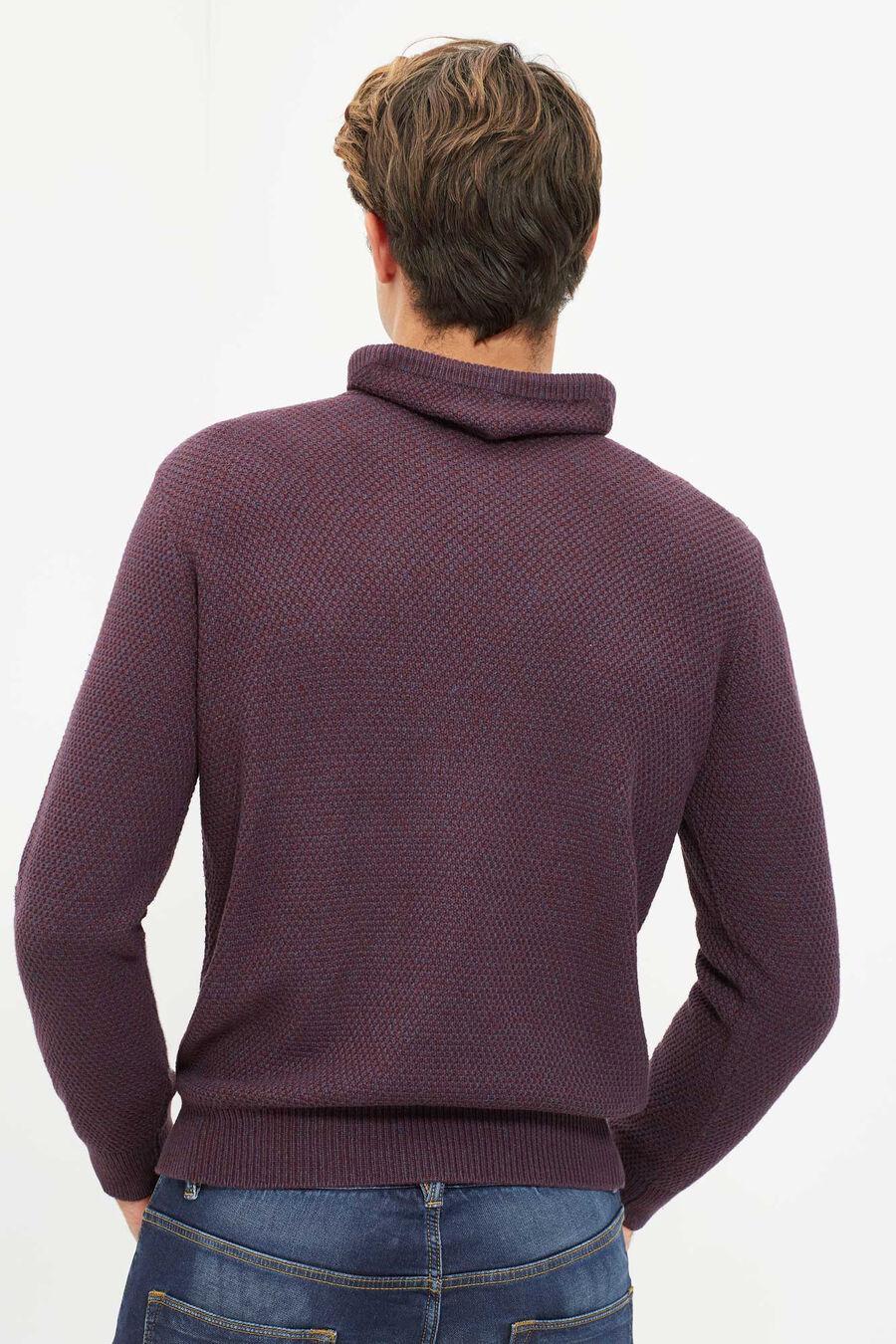 Tuxedo neck sweater