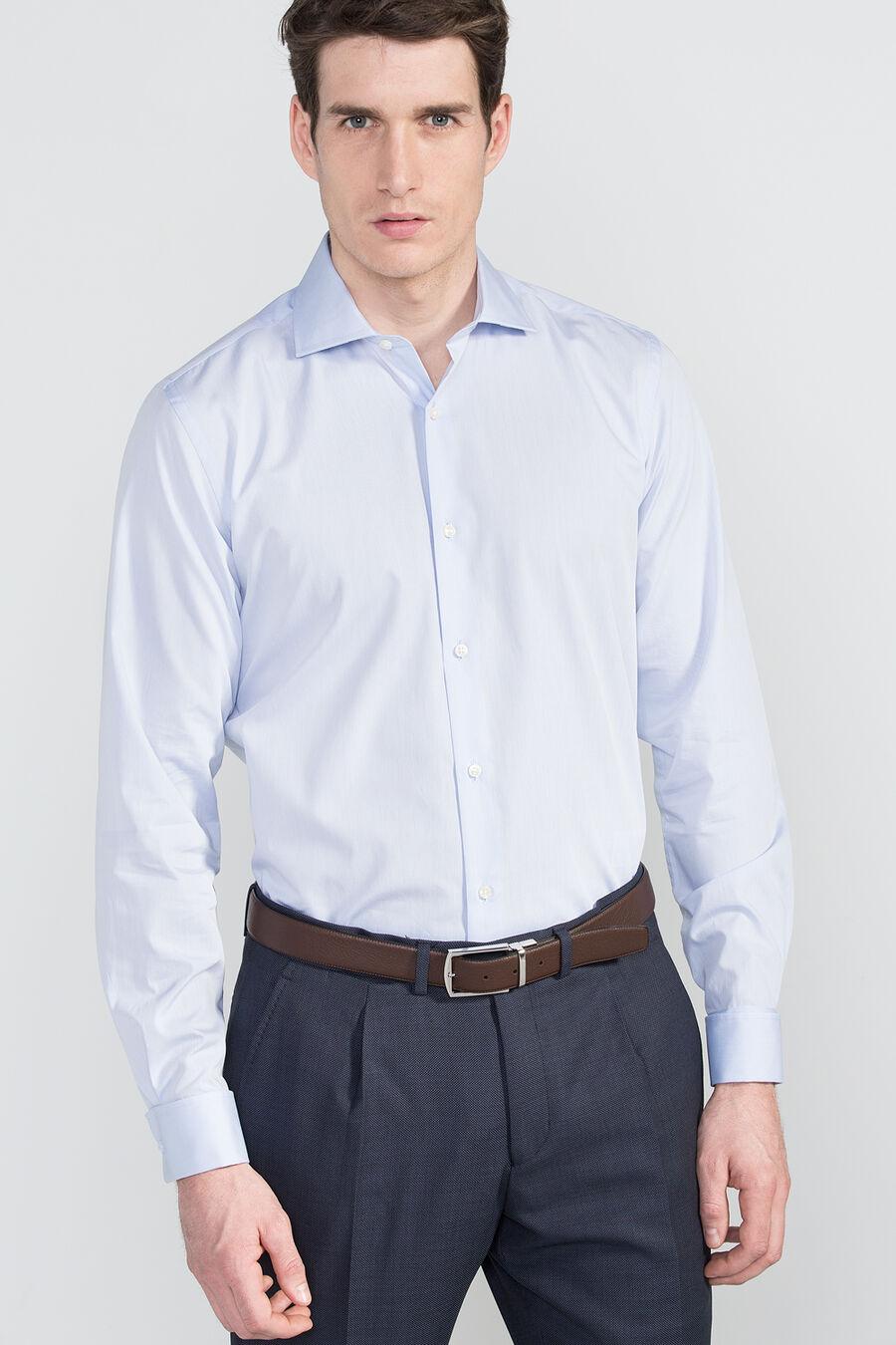 Plain tailored dress shirt