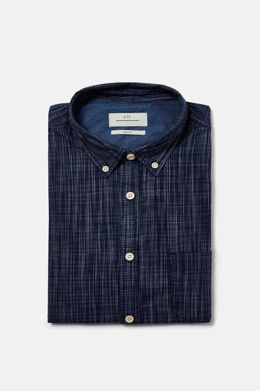 Checked indigo shirt