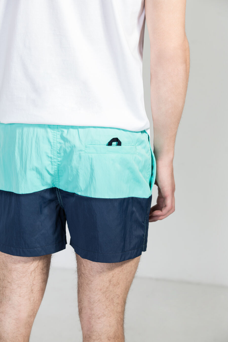 Bicolour swim shorts