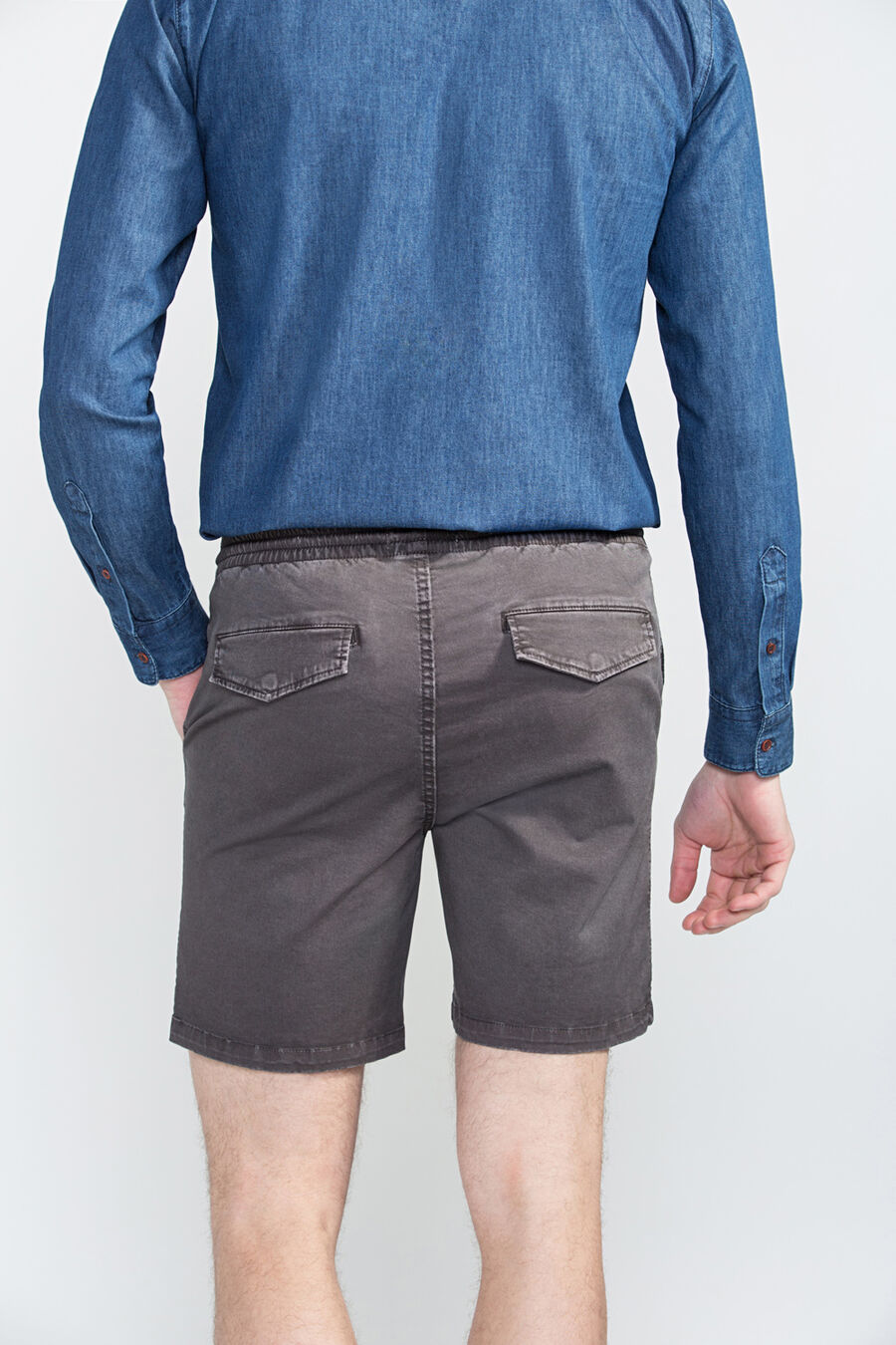 Slim fit bermuda shorts