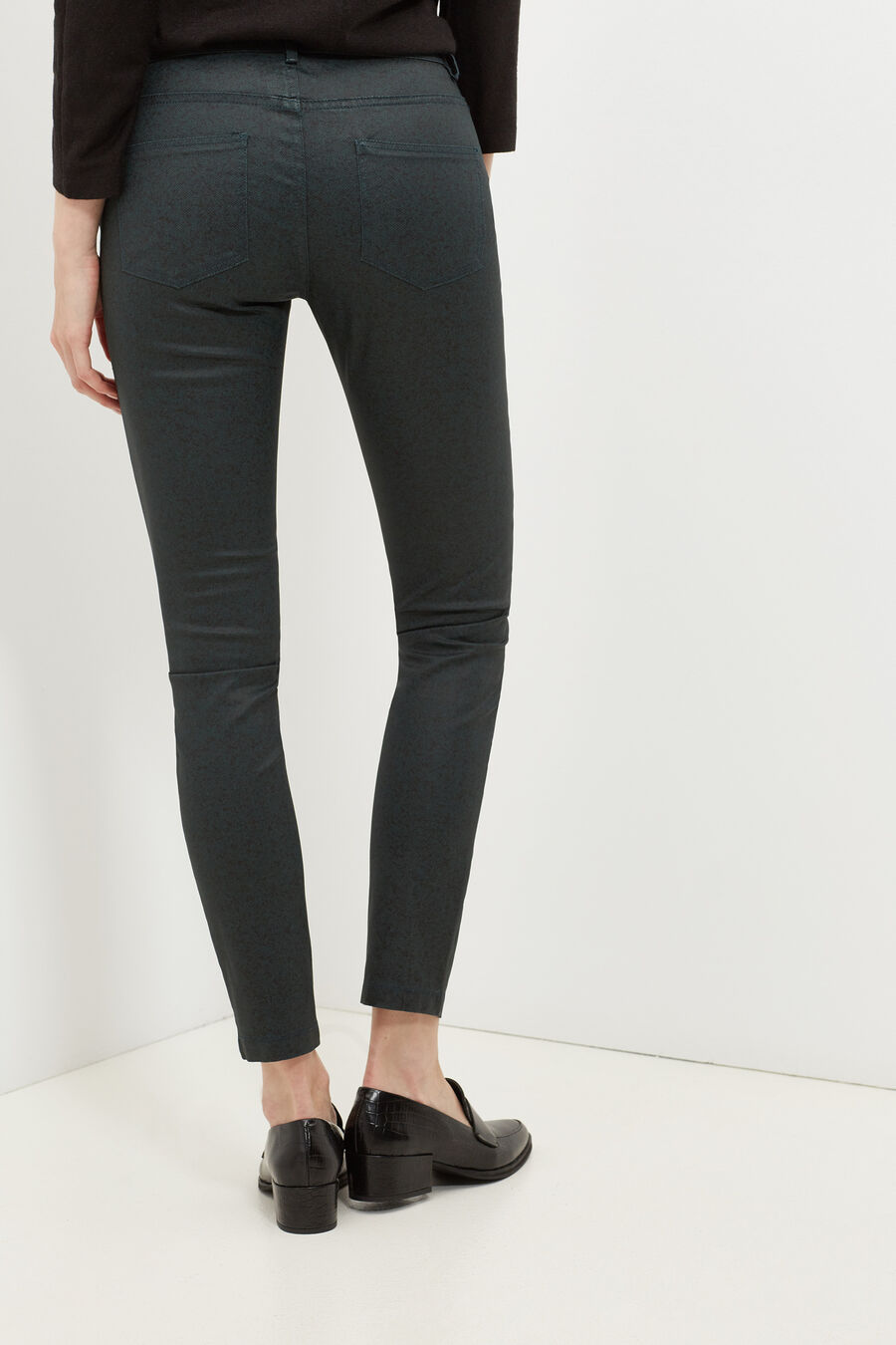 Skinny waxed trousers