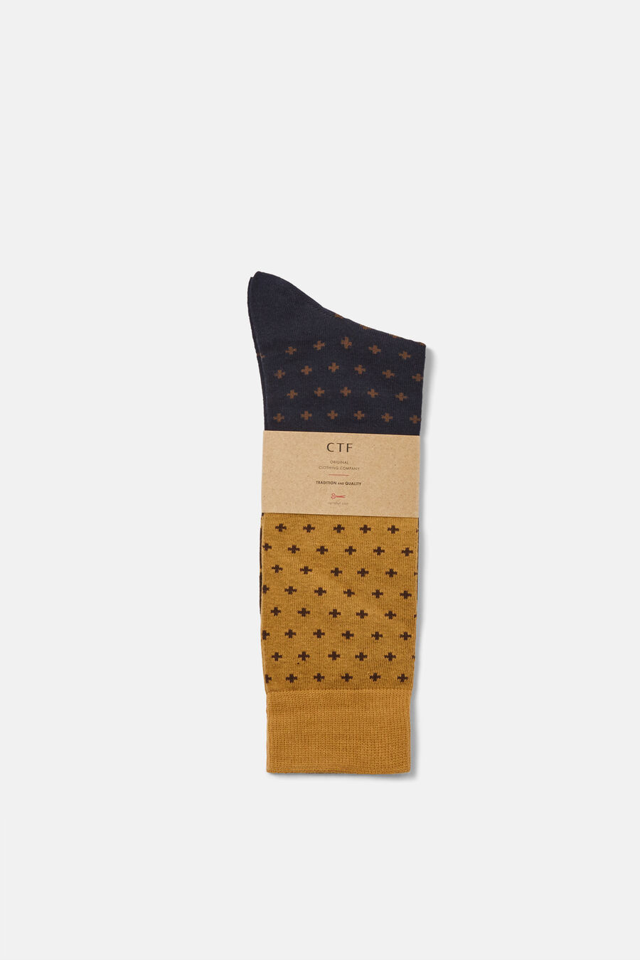 Three colour pattern socks