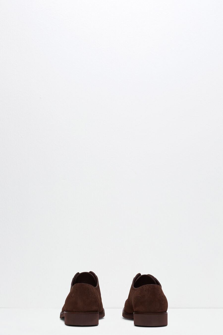 Split leather oxford shoe