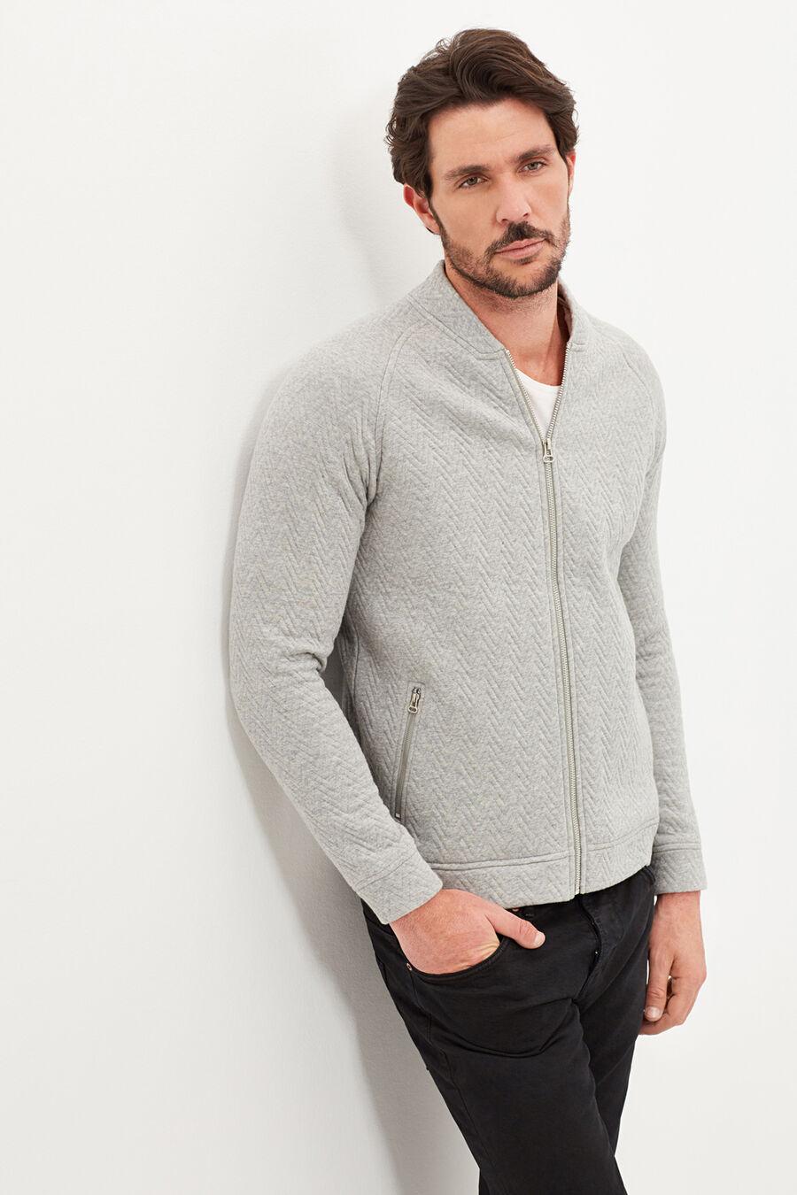 Bomber collar sweatshirt