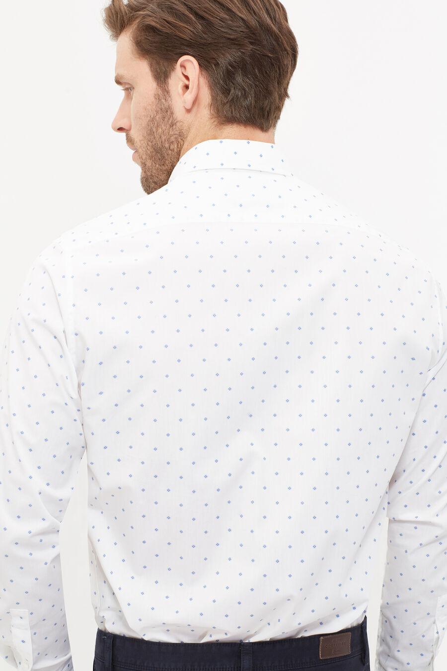 Tailored fit poplin print shirt