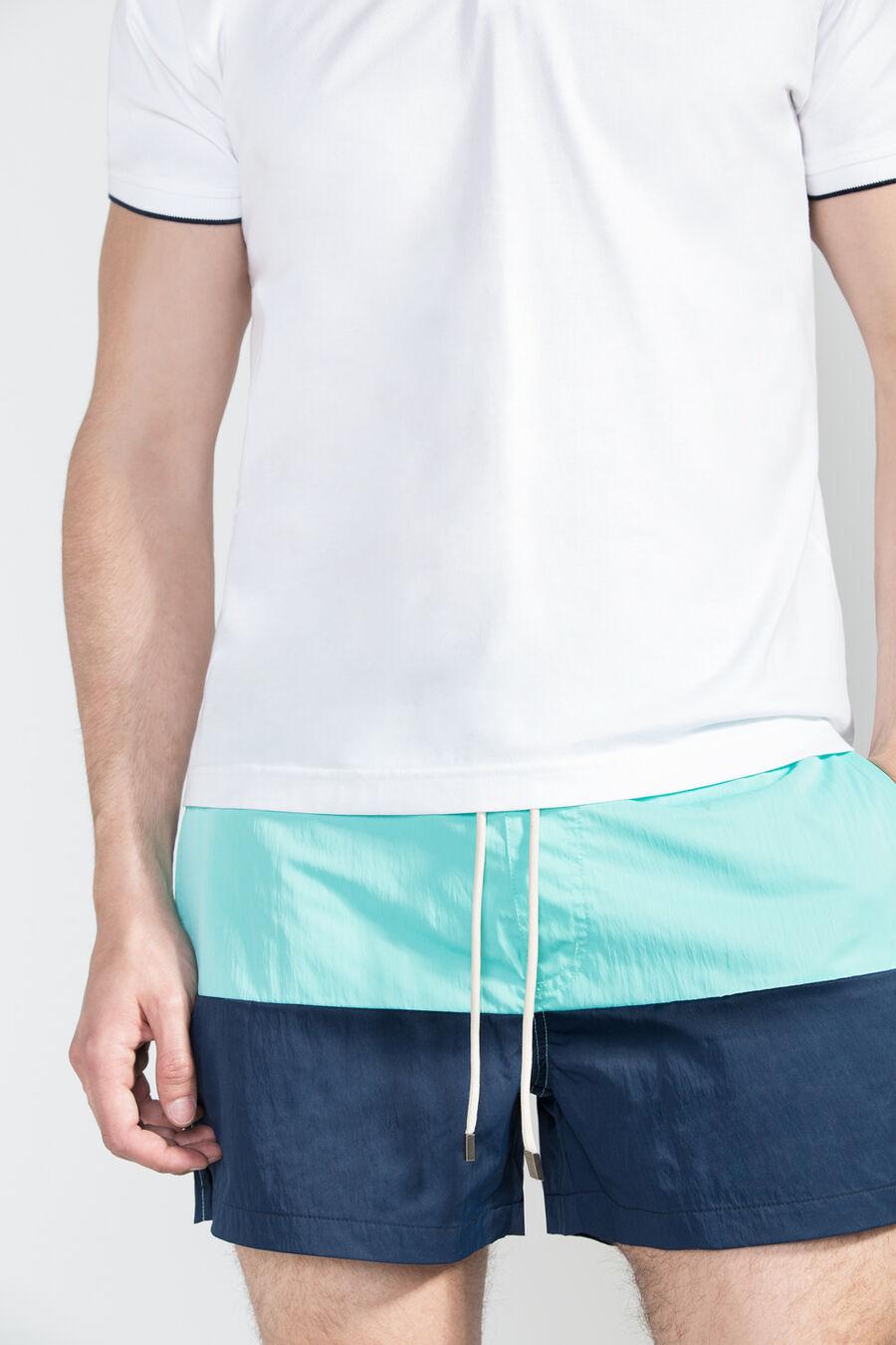 Bicolour swim shorts