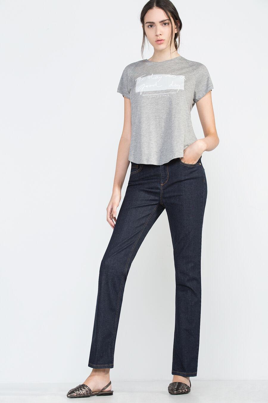 Straight fit premium denim trousers