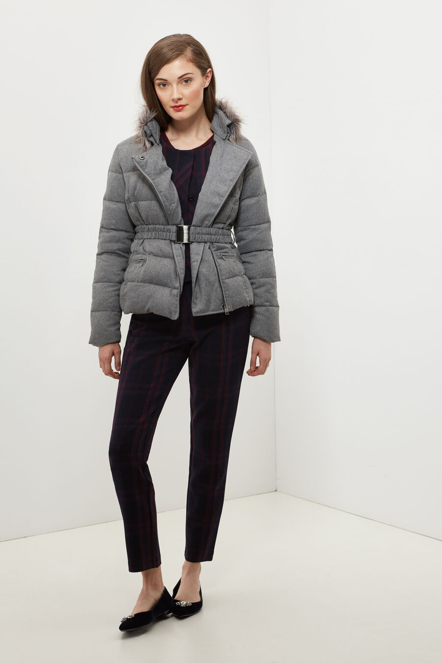 Short quilted anorak