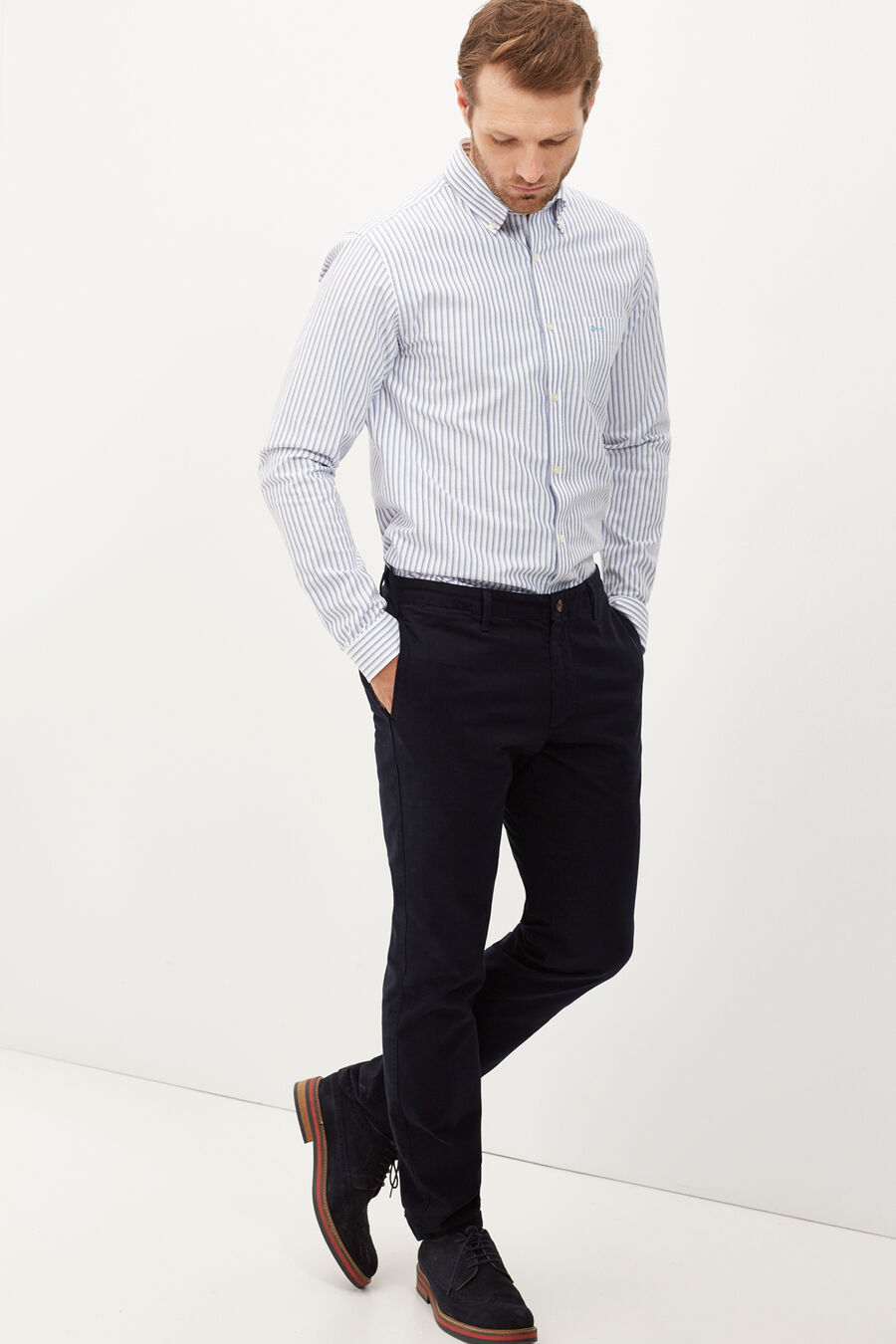 Double striped tailored shirt