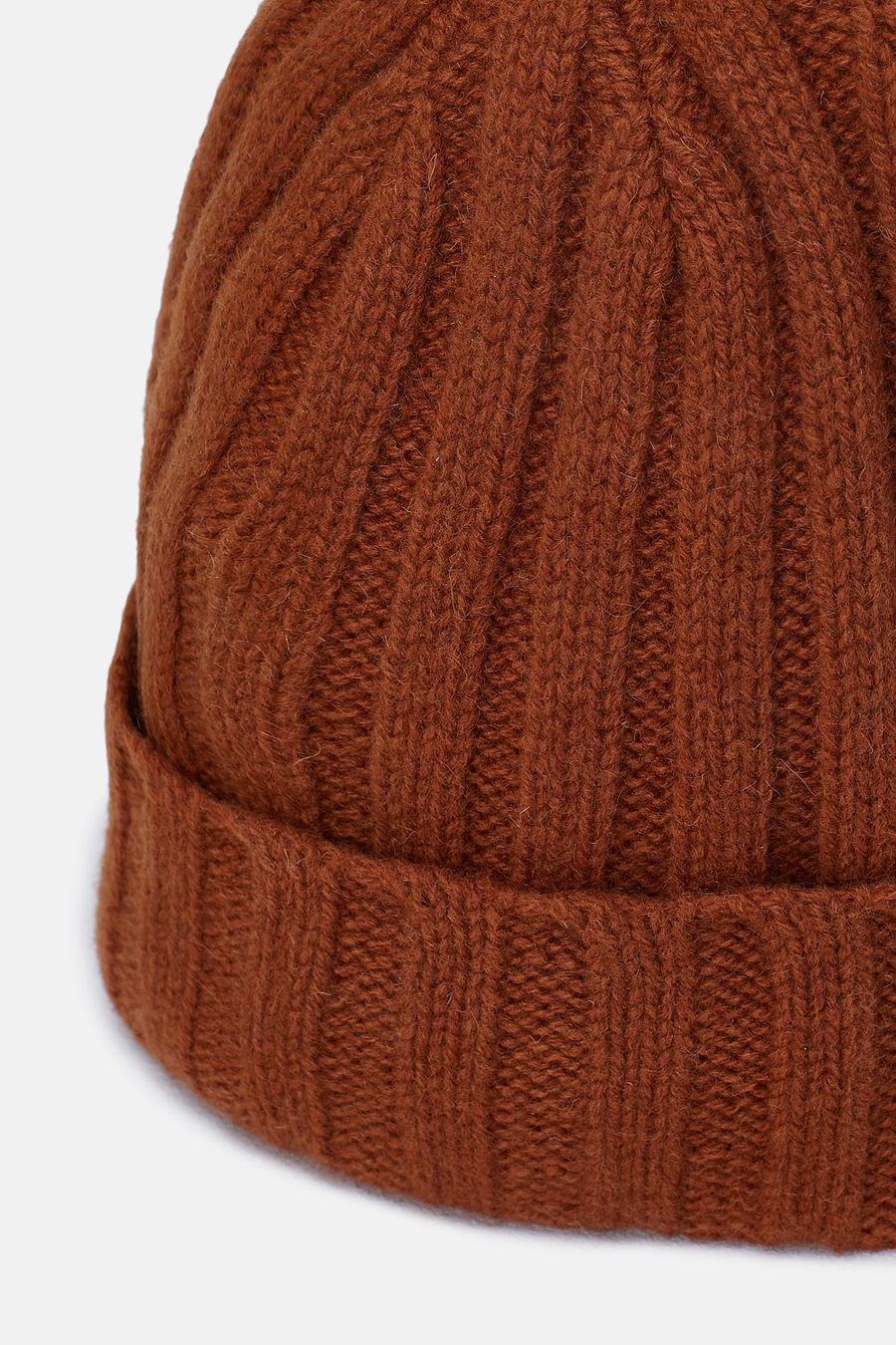 Ribbed hem knit hat