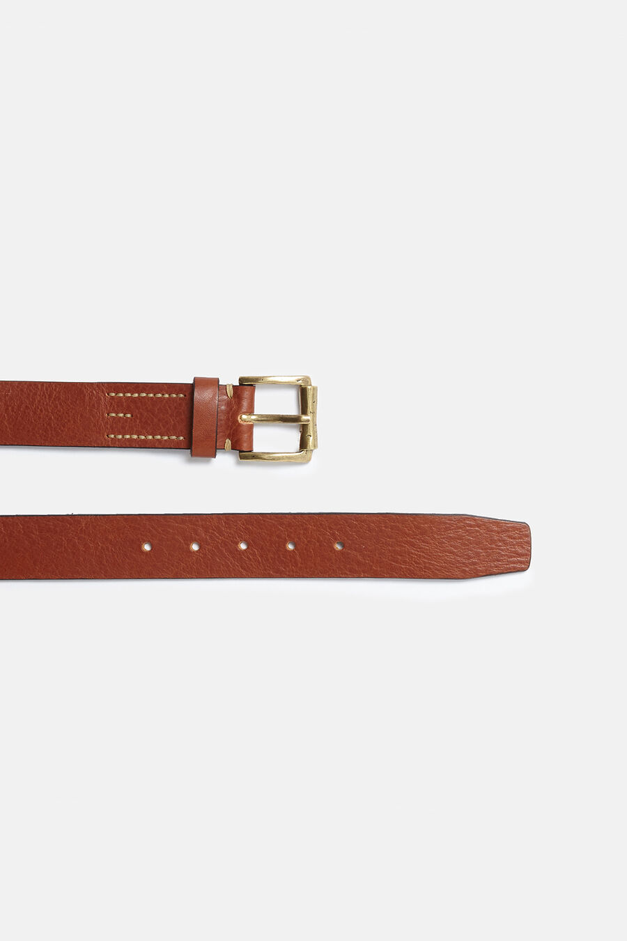 Brogue calfskin belt.