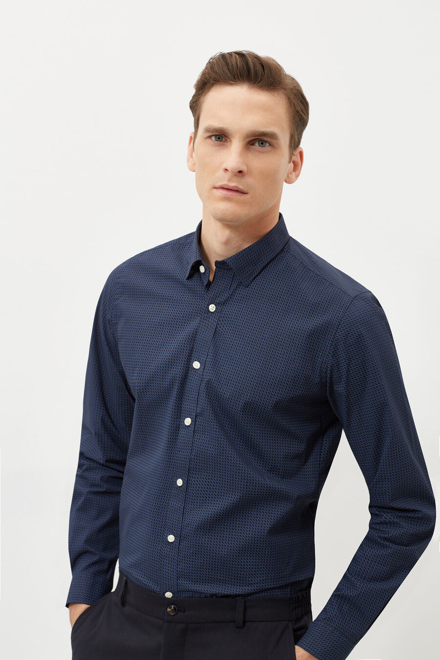 Slim fit print shirt
