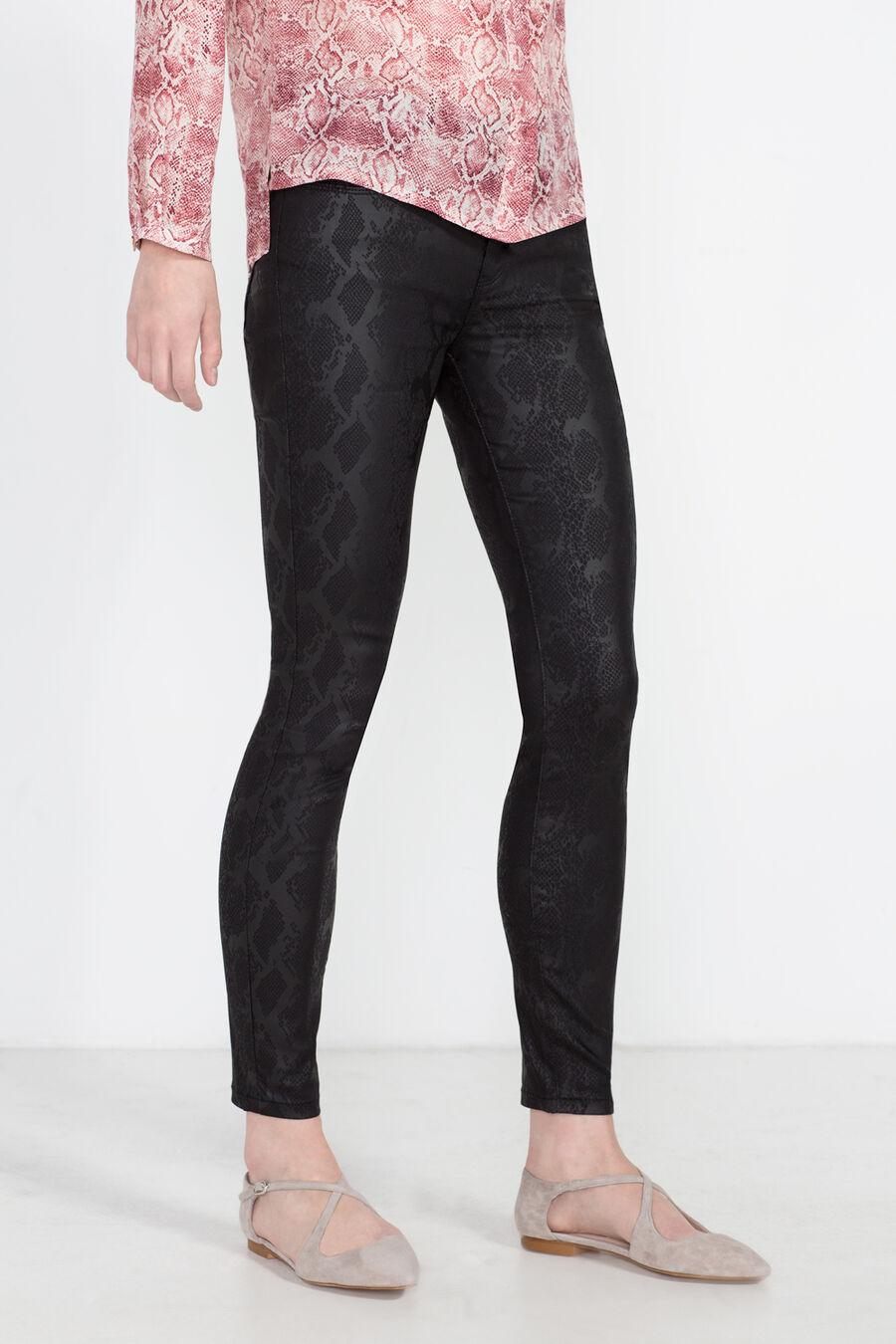 Animal print skinny trousers