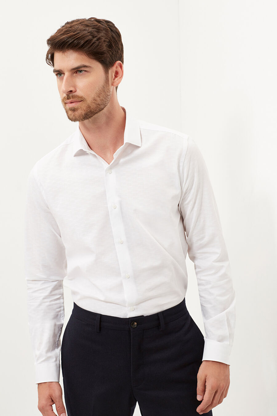 Structured slim fit shirt