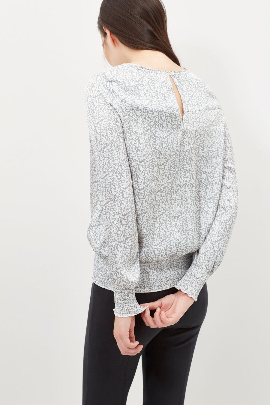 Satin effect blouse