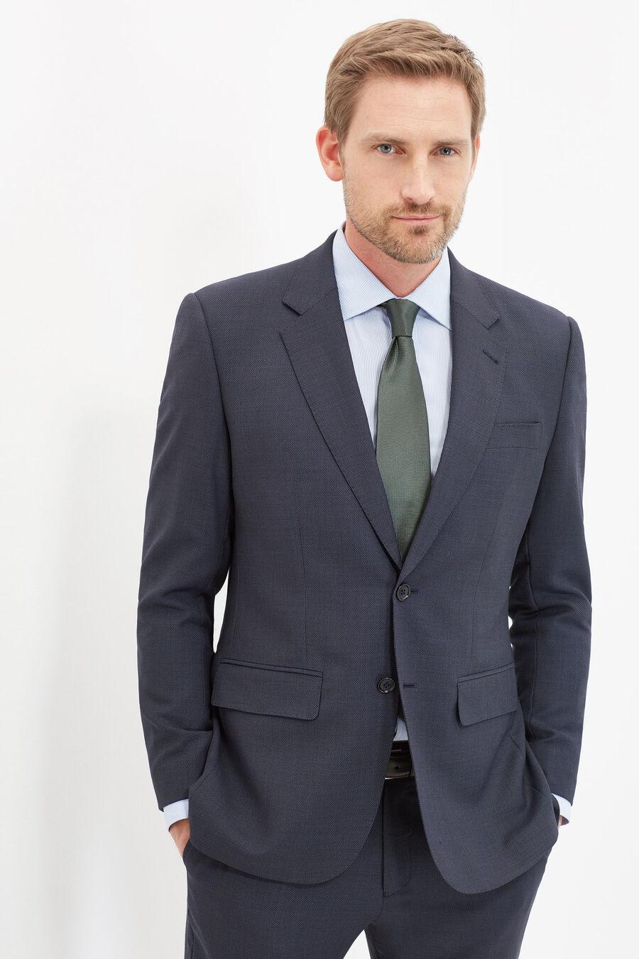 Classic fit birdseye suit
