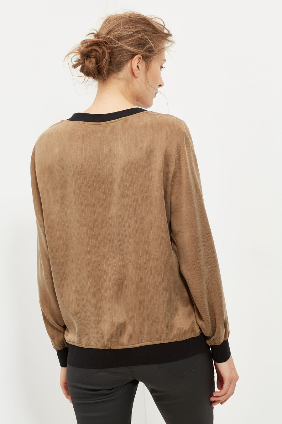 Top with trim detail
