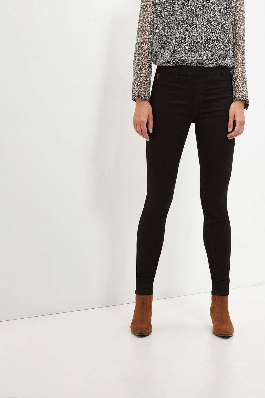 Ankle-length jeggings