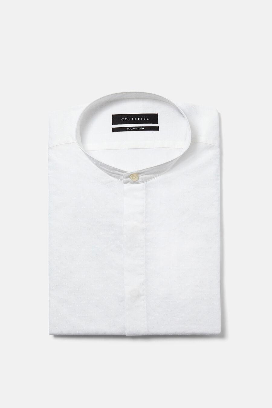 Contrast jacquard shirt
