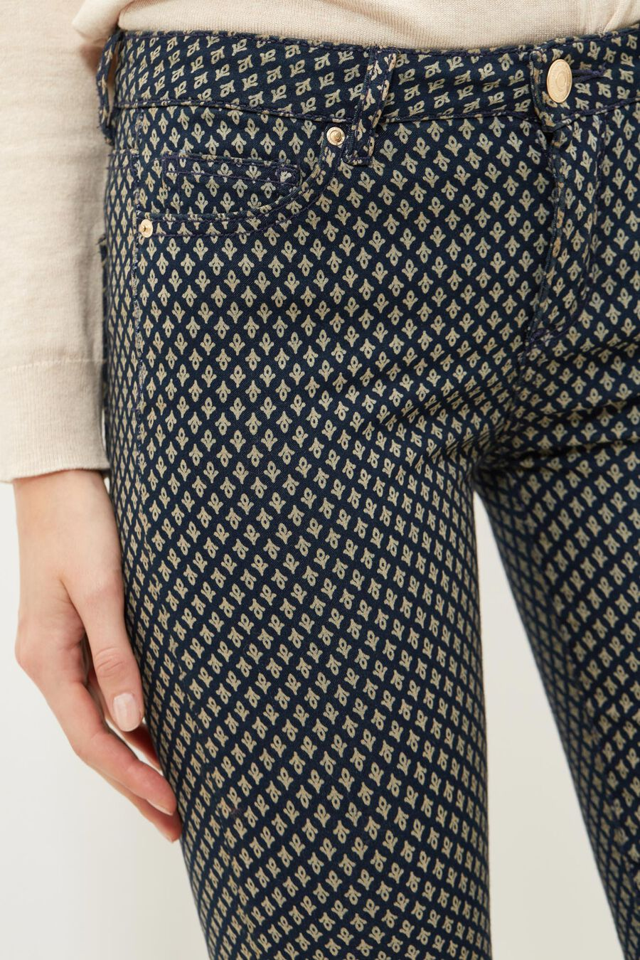 Printed sensational fit trousers